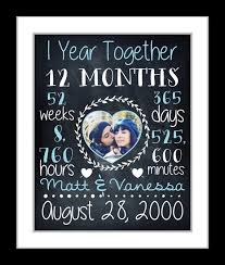 one year anniversary gifts for him anniversary gift for boyfriend chalkboard