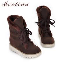 womens leather lace up boots australia boots winter picture more detailed picture about meotina