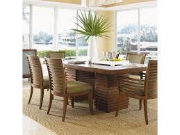 tommy bahama home ocean club double pedestal peninsula dining