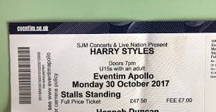 harry styles eventim apollo hammersmith stalls standing in