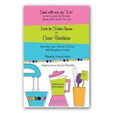 invitation cooking baking party chef kitchen themed bridal