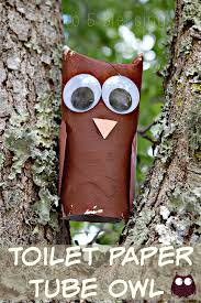 toilet paper tube owl kids craft with linky
