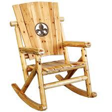 Fleur De Lis Patio Furniture Leigh Country Char Log Fleur De Lis Medallion Porch Rocker Chair