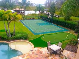 Backyard Sport Courts by Putting Greens