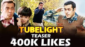 salman u0027s tubelight teaser fastest 400k likes new record set