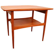 Teak Side Table Grete Jalk Teak Side Table For Moretti Denmark 1960 Teak