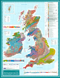 English Channel Map New Uk And Ireland Geology Map Folded Or Flat For The Wall Ukge