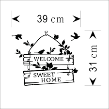 aliexpress com buy welcome sweet home door sign decoration wall
