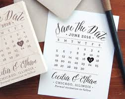 Save The Date Stamp Save The Date Calendar Stamp Etsy