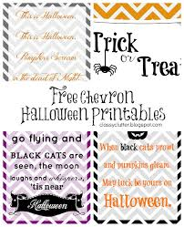 printable halloween sheets free chevron halloween printables classy clutter