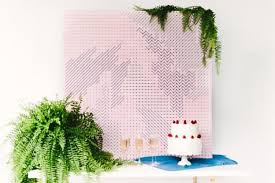 wedding backdrop modern modern geometric diy pegboard wedding backdrop weddbook