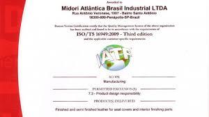 bureau veritas brasil quality policy midori auto leather brasil