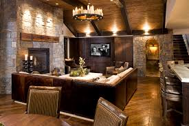 cool basement ideas cool basement ideas basement rustic with round chandelier ceiling