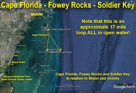 Google Map Miami by Kayaking The Biscayne Bay Triangle Cape Florida U2013 Fowey Rocks