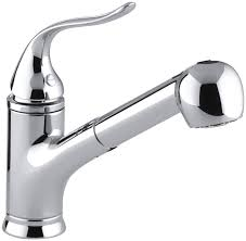 kohler forte pull out kitchen faucet kohler k 15160 cp coralais single pullout spray kitchen