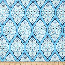 Designer Home Decor Fabric by Dena Designs Home Décor Linen Blend Sunshine Medallion Aqua