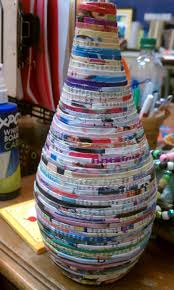 recycled magazine vase recycled art pinterest recycled