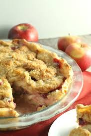 cranberry apple crumb pie chocolate with grace