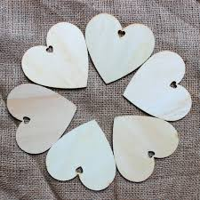 50pcs 100mm blank heart wood slices discs for art crafts diy