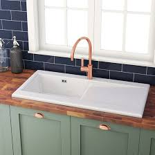 1 bowl kitchen sink white cream kitchen sinks tap warehouse