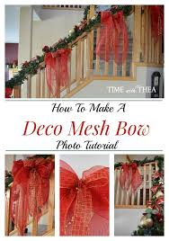 how to make a deco mesh bow photo tutorial time with thea