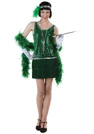 green flapper plus size costume 1920 u0027s flapper dress
