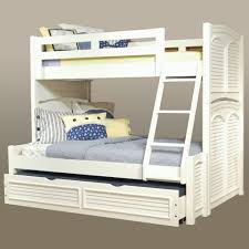 Twin Over Full Bunk Beds Caden Nautical Blue White Twin Over Full - White bunk beds twin over full with stairs