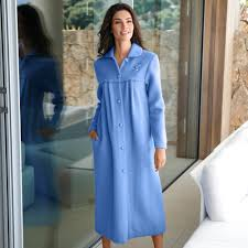 robe de chambre en courtelle peignoir uni maille courtelle blancheporte