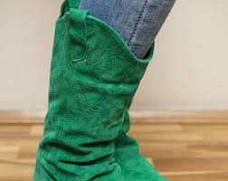 womens green boots uk green boots etsy