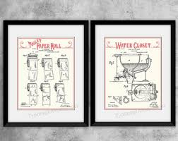 Wall Art For Bathrooms Bathroom Patent Art Etsy