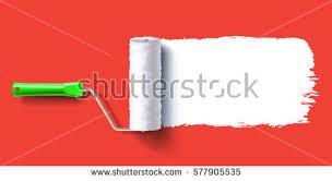 white color trail roller brush on stock vector 630697238