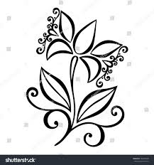 beautiful decorative flower leaves vector patterned stock vector