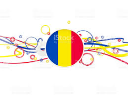 Flag Romania Flag Of Romania Circles Pattern With Lines Stock Vector Art