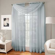 curtains for windows crushed voile platinum collection sheer rod pocket window curtain
