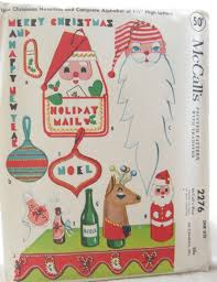 retro christmas decorations vintage sewing pattern mccall u0027s 2276