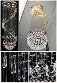high ceiling spiral shape modern crystal chandelier view crystal