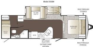 Bunkhouse Trailer Floor Plans Camper Floor Plans With Bunk Beds U2013 Bunk Beds Design Home Gallery