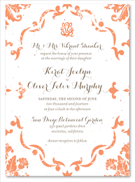 wedding invitations indian indian wedding invitations on seeded paper vintage damask by