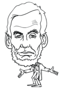 lincoln coloring pages lincoln in front of american flag coloring page free printable