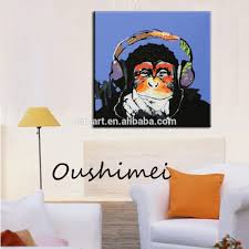 Monkey Home Decor Hand Painted Monkey Oil Paintings Modern Abstract Animals Pictures