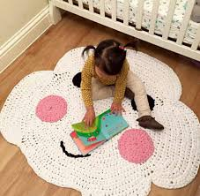 Cheap Kids Rug by 2016 Custom Made Crochet 3d Cartoon Baby Happy Cloud Blanket Kids