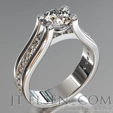 rose style rings images Pave diamond enagement rings antique style engagement ring round jpg