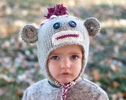 Monkey Halloween Costume Baby Sock Monkey Costume Etsy