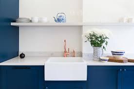 copper kitchen cabinets beautiful blue kitchen design ideas