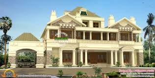 luxury colonial house plans luxury colonial style slope roof home kerala design and house