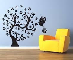 vinyl wall decal sticker hummingbird tree 1006