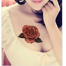 flower design one time temporary tattoos arm rose tattoo