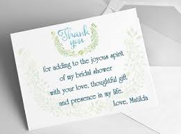 bridal shower thank you cards bridal shower thank you cards sle wording tips and etiquette