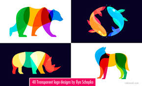 logo design 40 transparent and blend mode logo designs by ilya schapko
