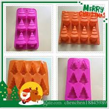 wholesale christmas tree silicone kitchen baking molds for